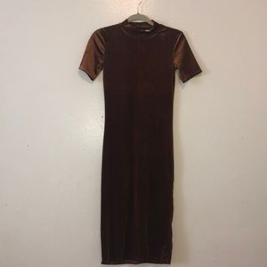 Beautiful Brown velvet dress. Perfect for Fall